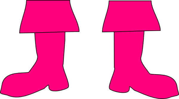 Boot clipart. Pink boots