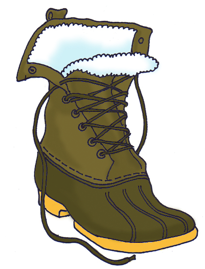 boots clipart snow boot
