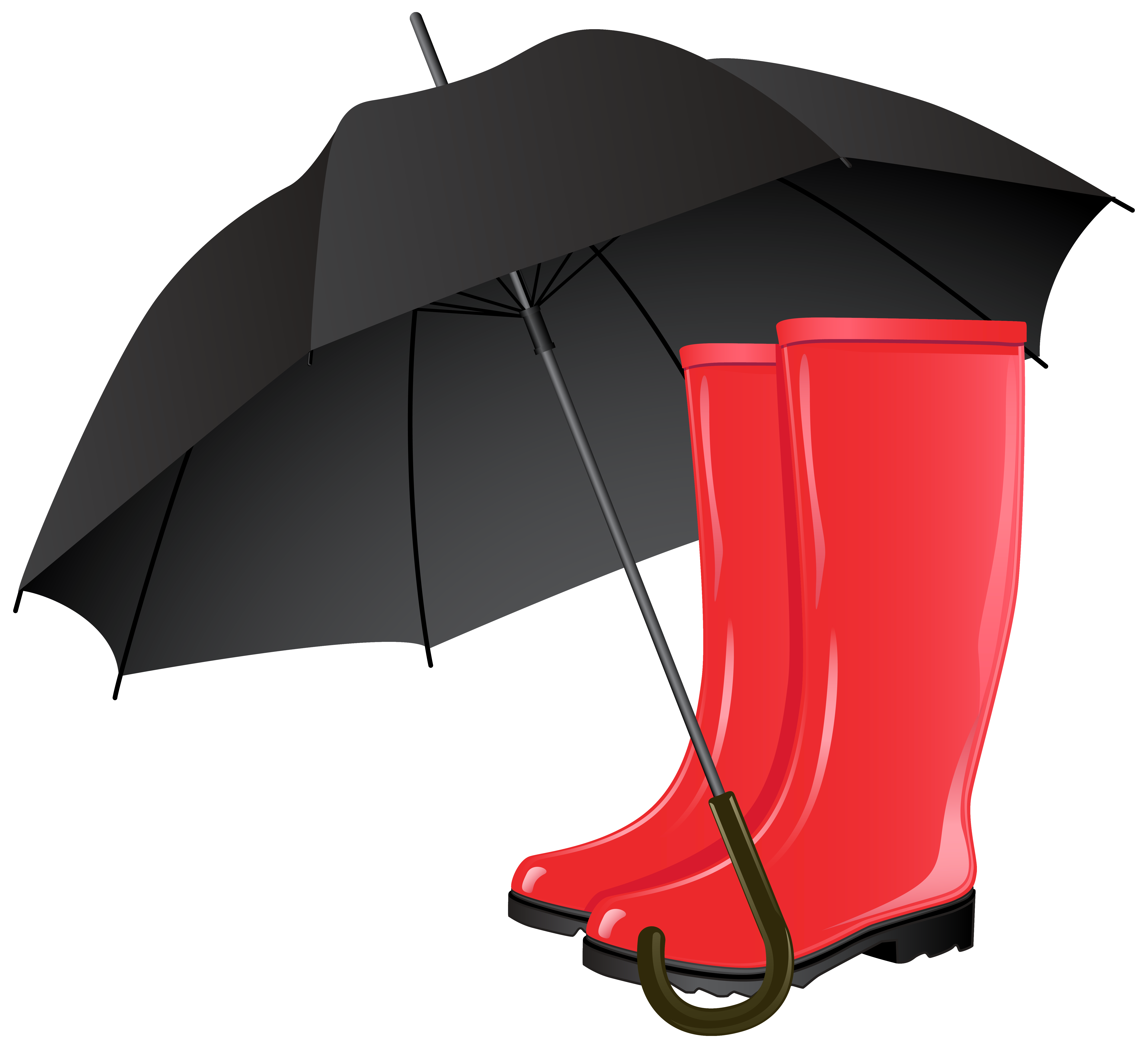 Boots clipart transparent background. Rubber and umbrella png