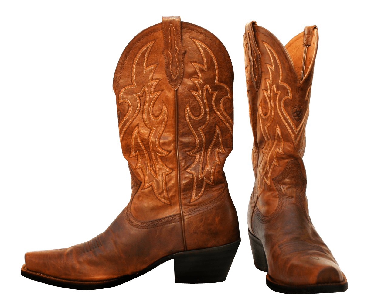 Cowboy boot png. Pair of boots transparent