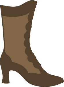 Boots svg. Victorian boot paper piecing