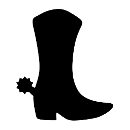 Boots svg. Cowboy boot silhouette at