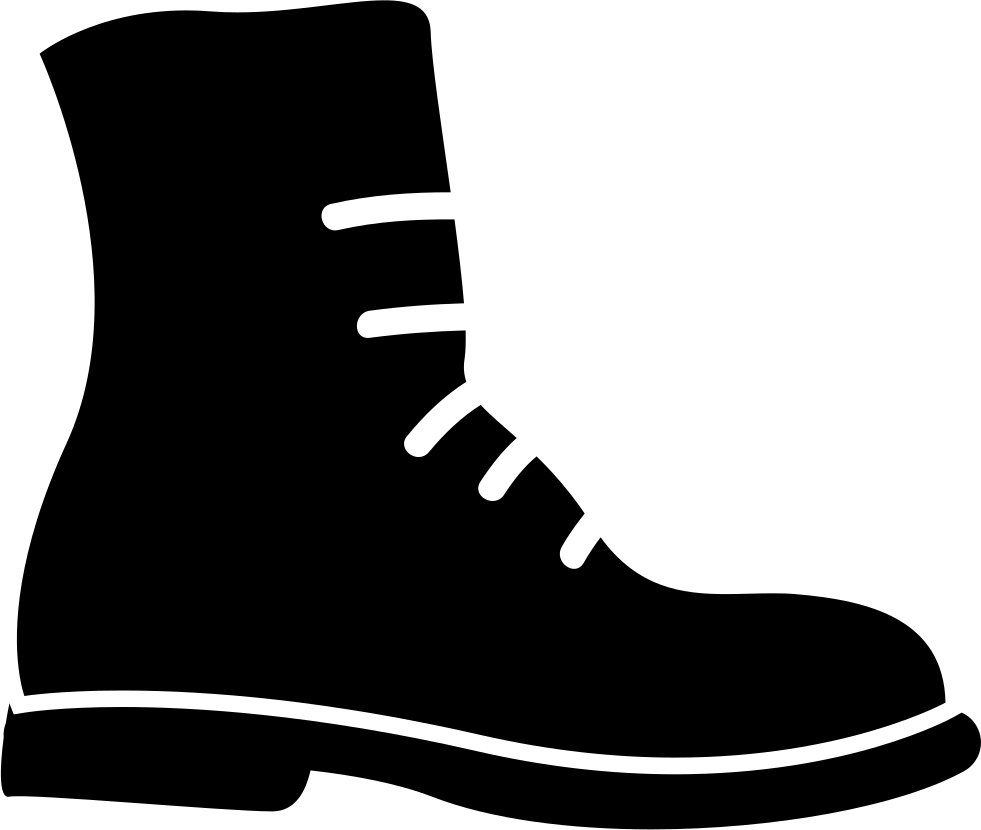 Boots svg black and white. Military boot png icon