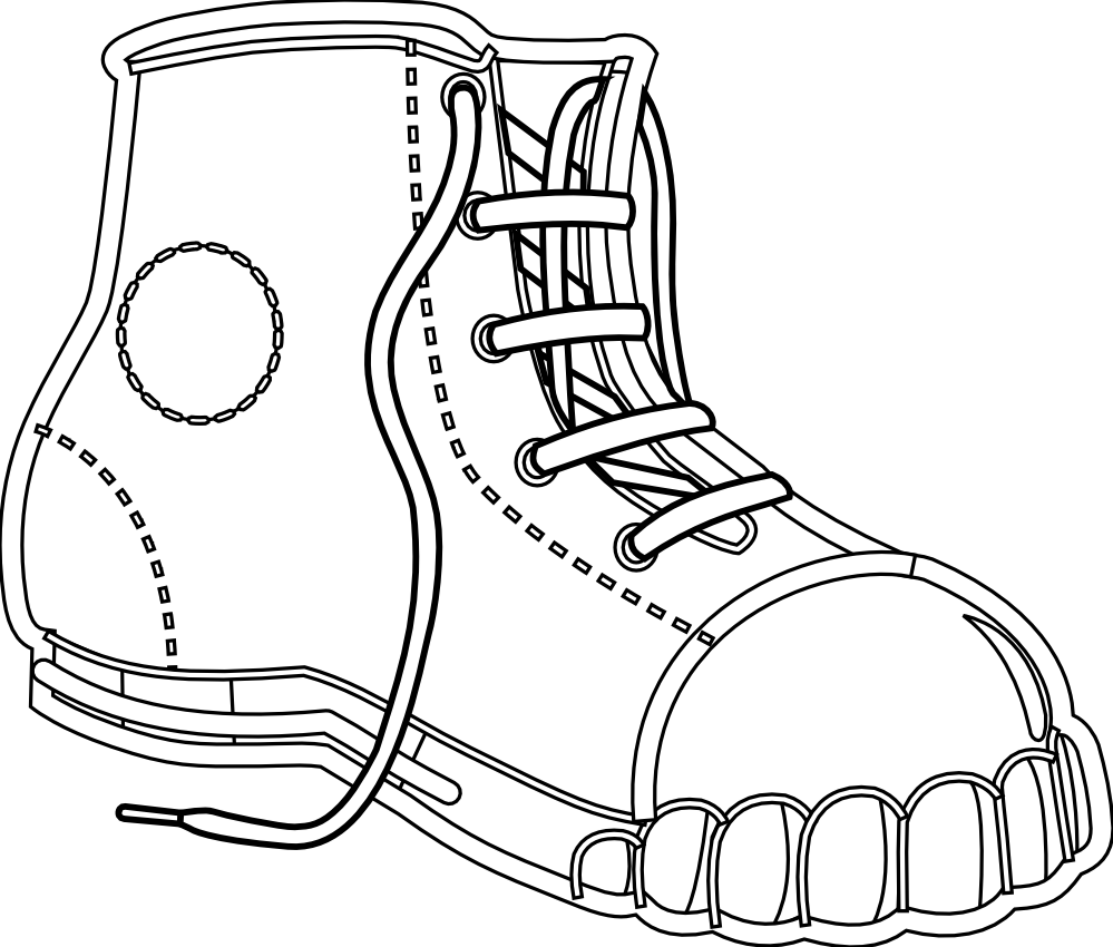 Boots svg black and white. Clipartist net clip art