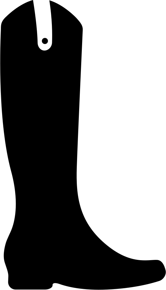 Boots svg black and white. Boot tall png icon