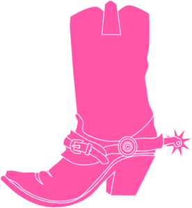 Boots svg cancer. Pink cowgirl clip art