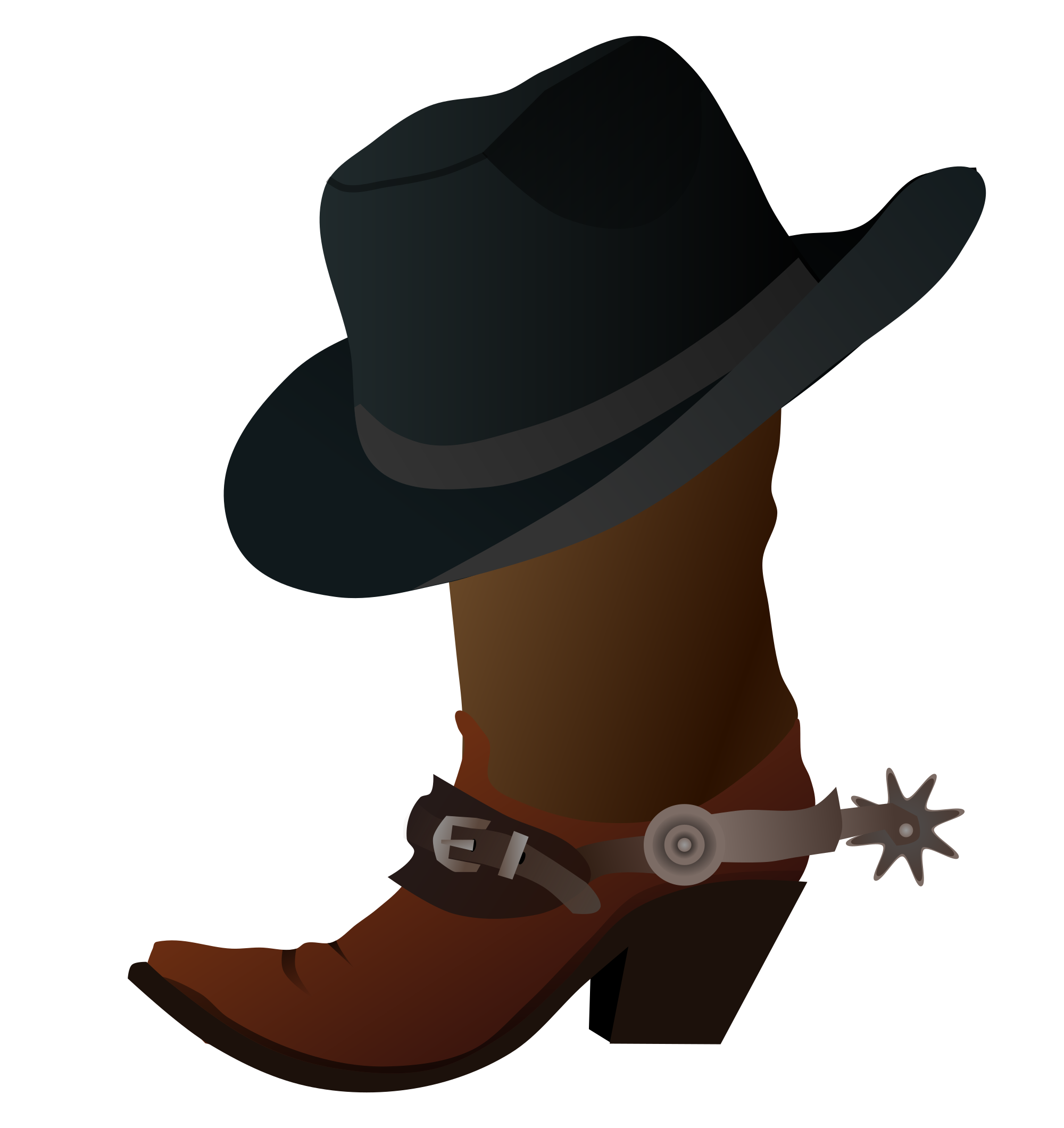 Boots svg cowboy. File boot and hat