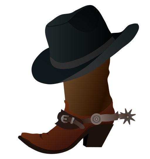 Boots svg hat. File cowboy boot and
