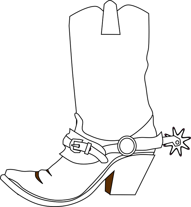 Western svg clip art. Boot royalty free