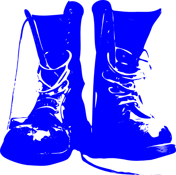 Blue combat clip art. Boots svg girl drawing banner freeuse