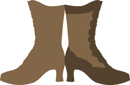 Boots svg paper cowboy. Victorian boot piecing and