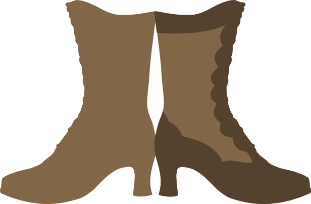 Boots svg paper cowboy. Victorian boot card free