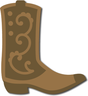 Boots svg paper cowboy. Freebie boot this is