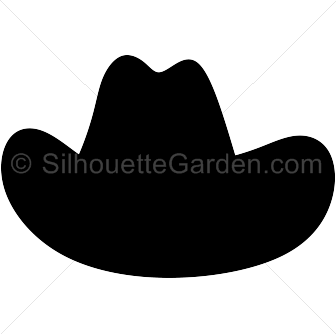 Cowboy svg silhouette. Hat clip art download