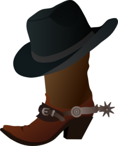 Mustache clipart western. Cowboy boot and hat