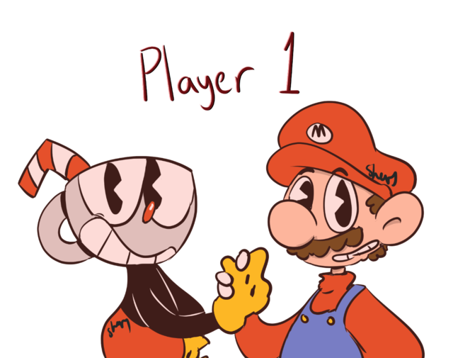 Booty transparent cuphead. And mario crossover universe