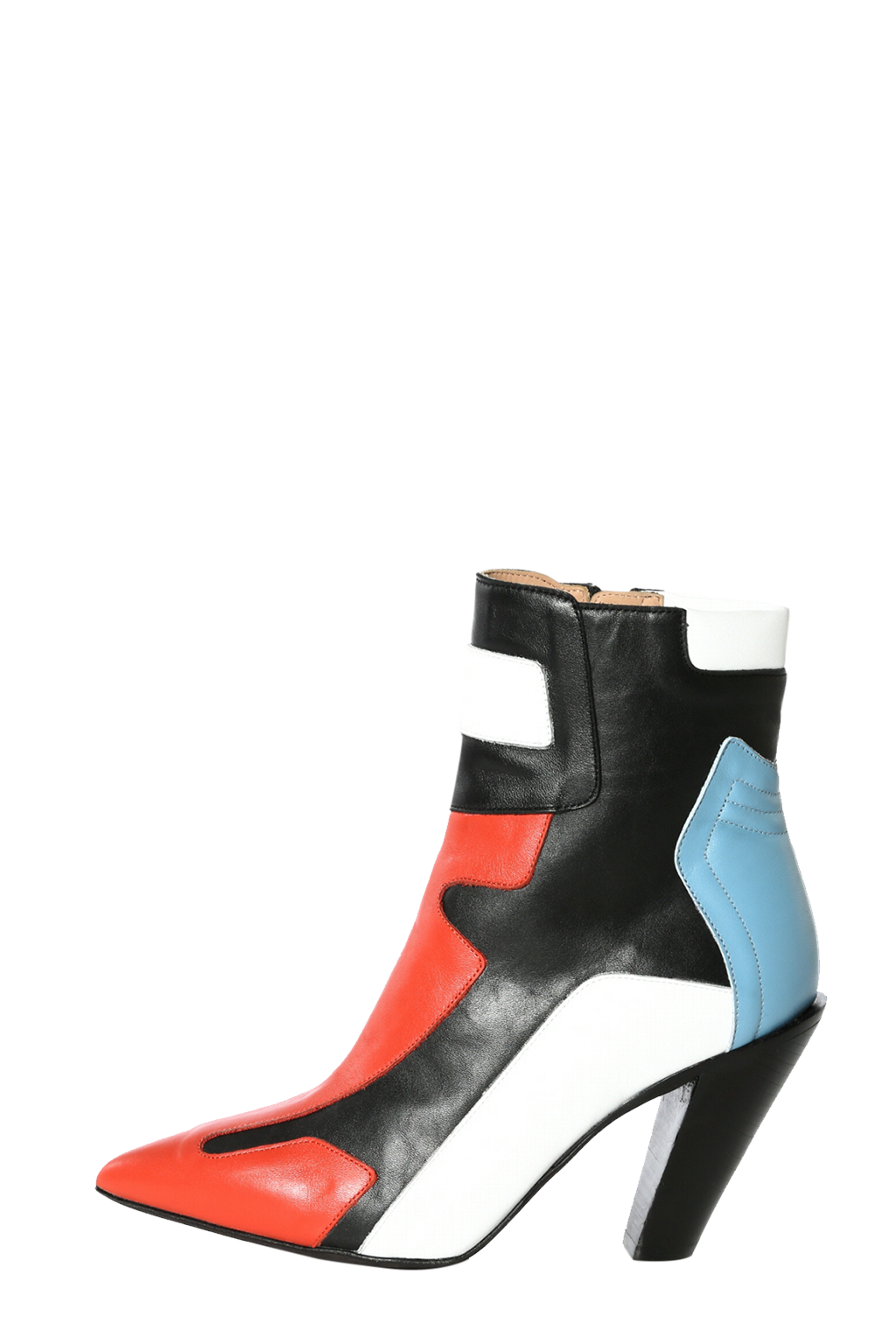 Booty transparent heel. Motocross inspired ankle boots