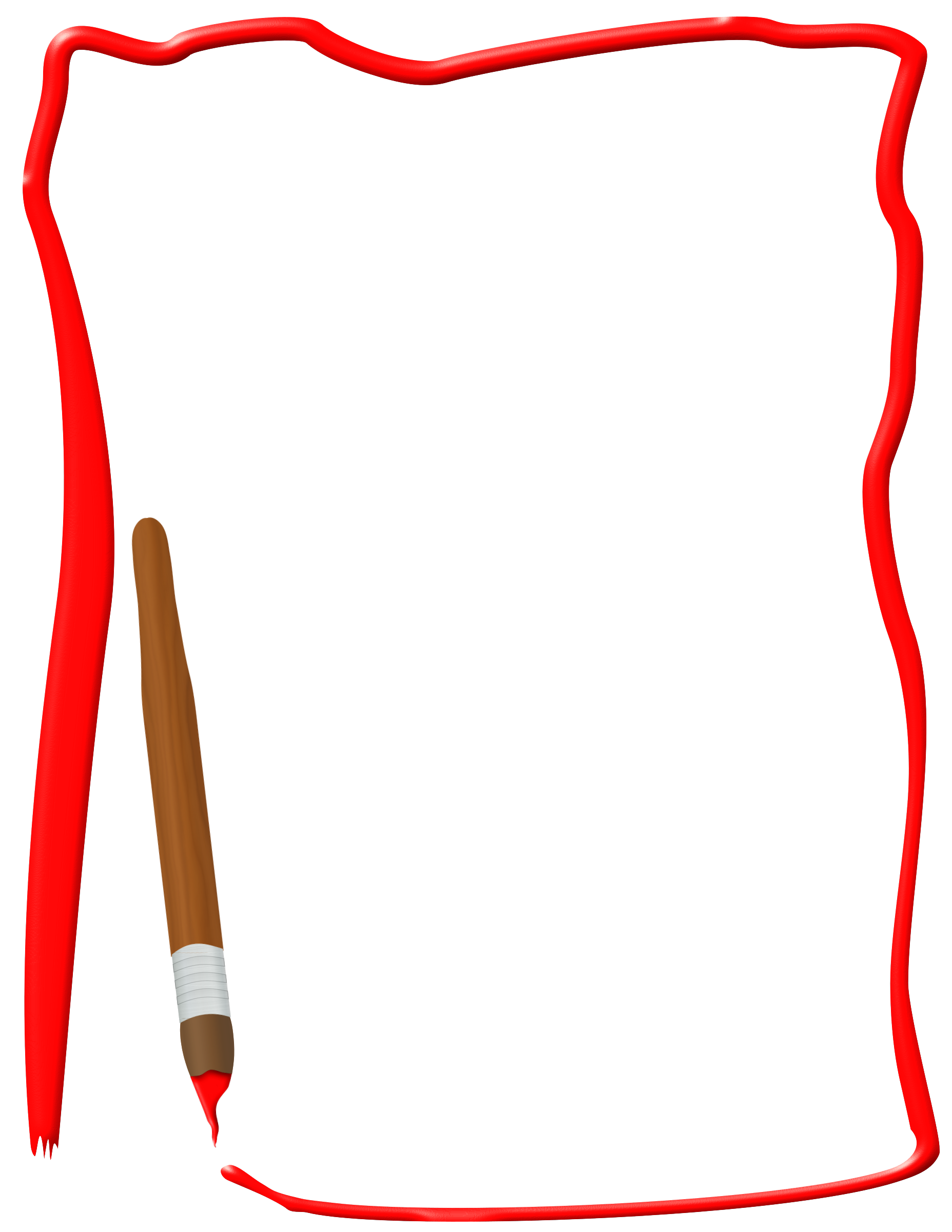Paint brush big image. Border clipart png image library stock