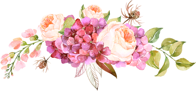 Flowers png. Free watercolor border peoplepng