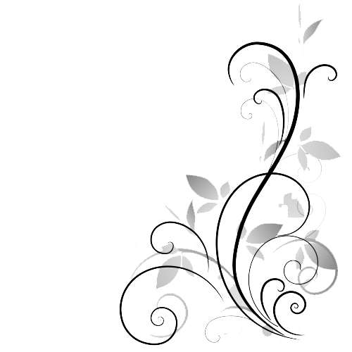 Flower .png. Black and white transparent