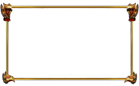 Border overlays png. Free gold facecam minimalist