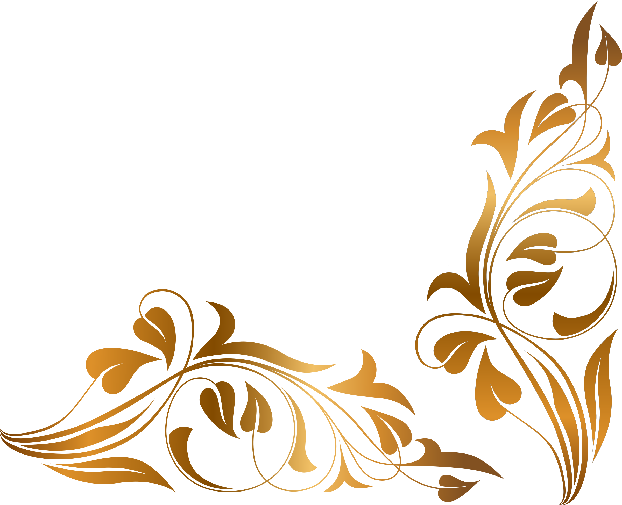 Brown floral border png. Flourishes clipart wedding hd svg free stock