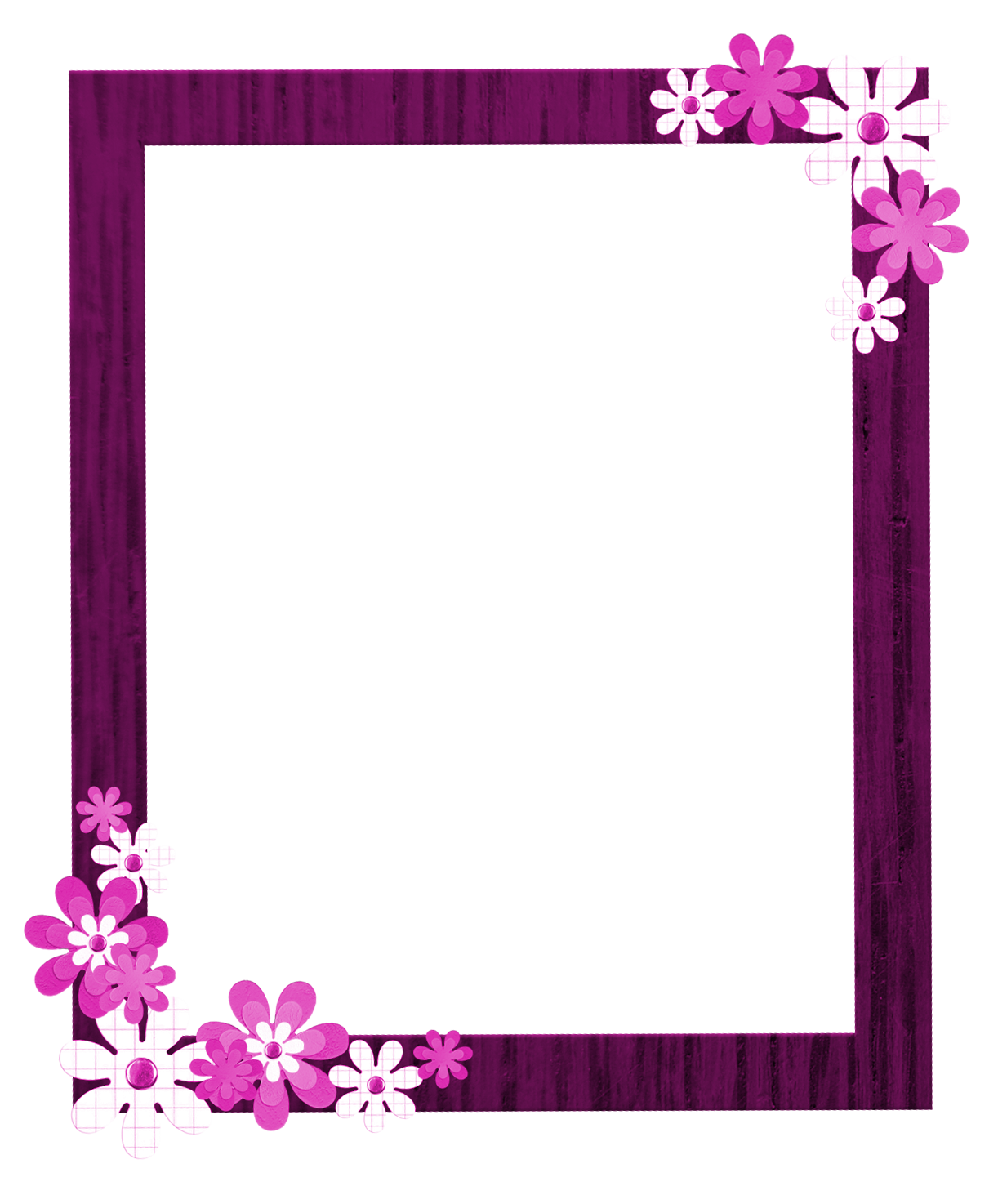 Border png. Pink floral picture vector