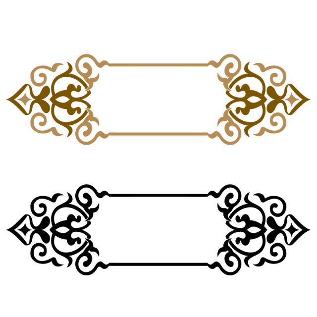 Border png vector. Title frame golden and
