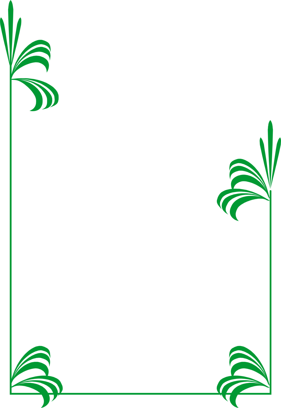 Green frame png pic. Bamboo clipart nature border design banner freeuse