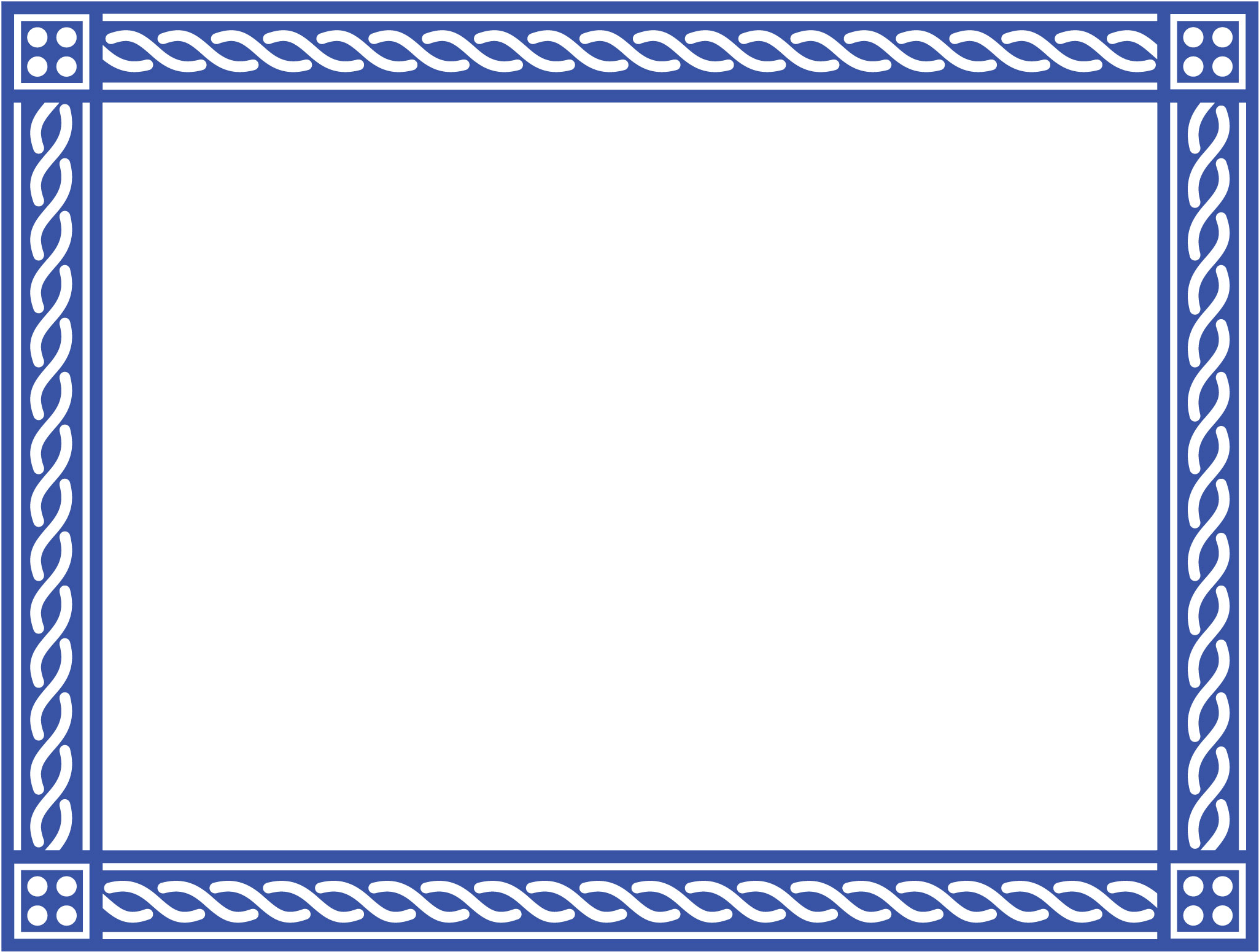 Border template png. Download certificate image blue
