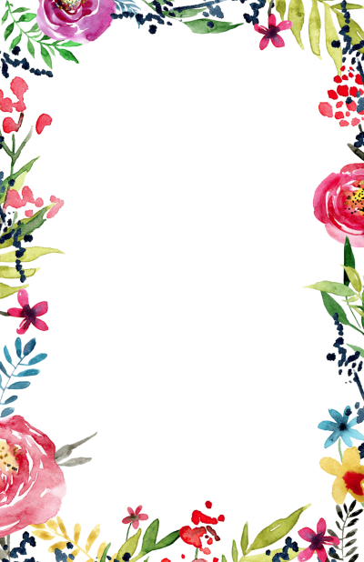 Border transparent png. Download flowers borders free
