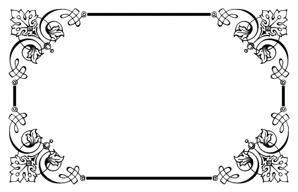 Borders clipart. Vintage border free images