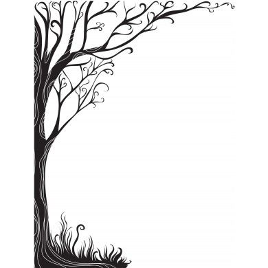 Borders clipart tree. Silhouette border at getdrawings