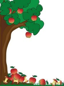 Borders clipart tree. Green page border of