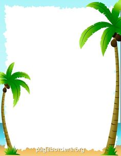 Borders clipart tree. Green border with a