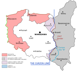 Western drawing war. Territorial changes of poland