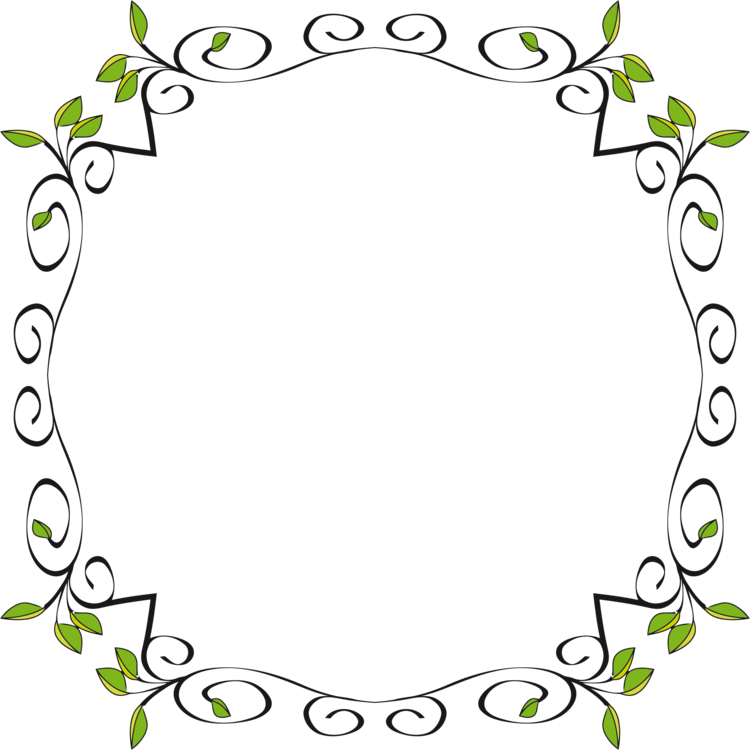 Borders drawing frame. And frames flower floral