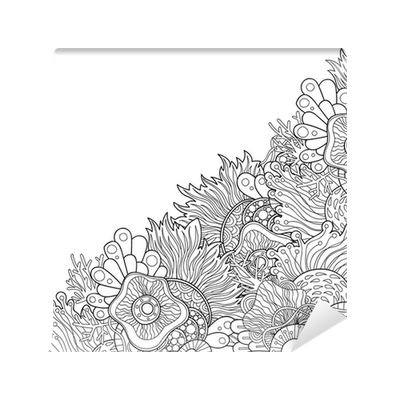 Borders drawing zentangle. Style invitation card doodle