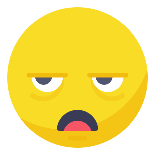Bored clipart dull. Sleepy smile smiley tired