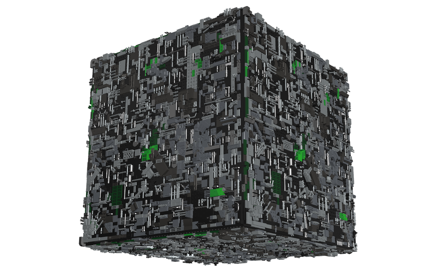 Borg cube png top down. Mecabricks com lego by