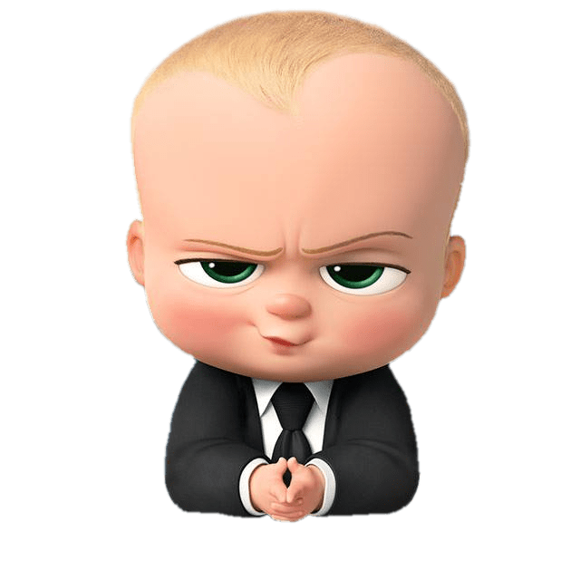 Angry look transparent stickpng. Boss baby png png library library