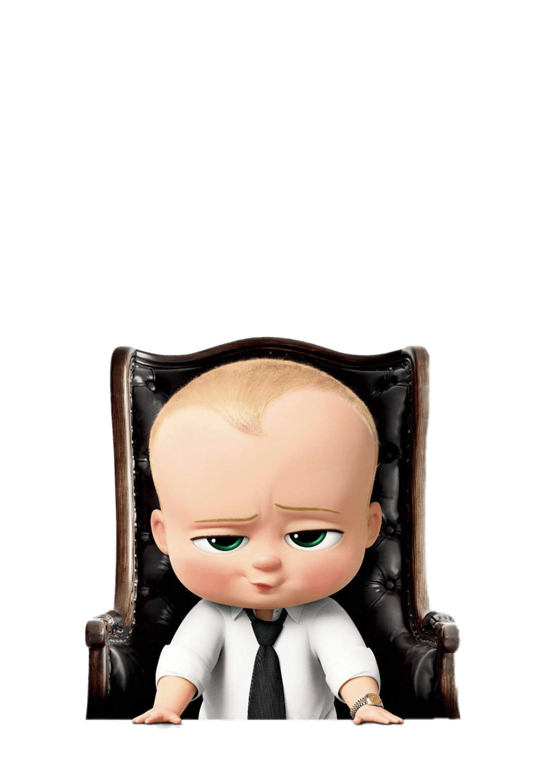 Boss baby png. In desk chair transparent