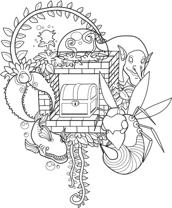 Boss drawing coloring page. Terraria pages mesmerizing printable