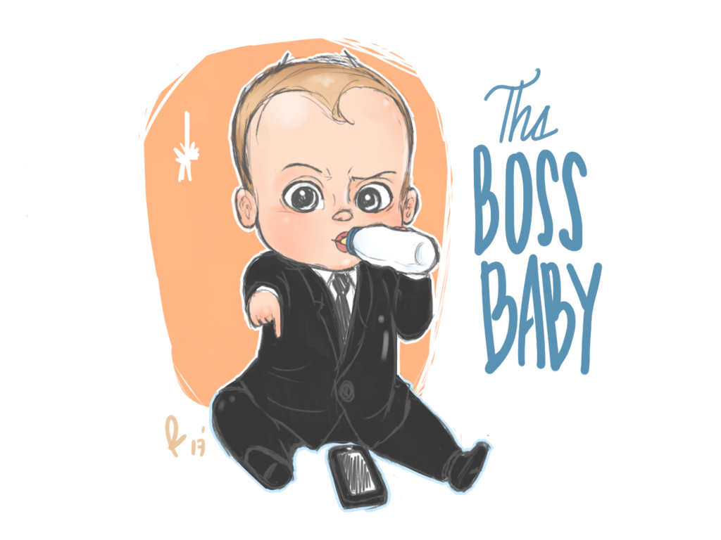 Boss vector cartoon. The baby png picture