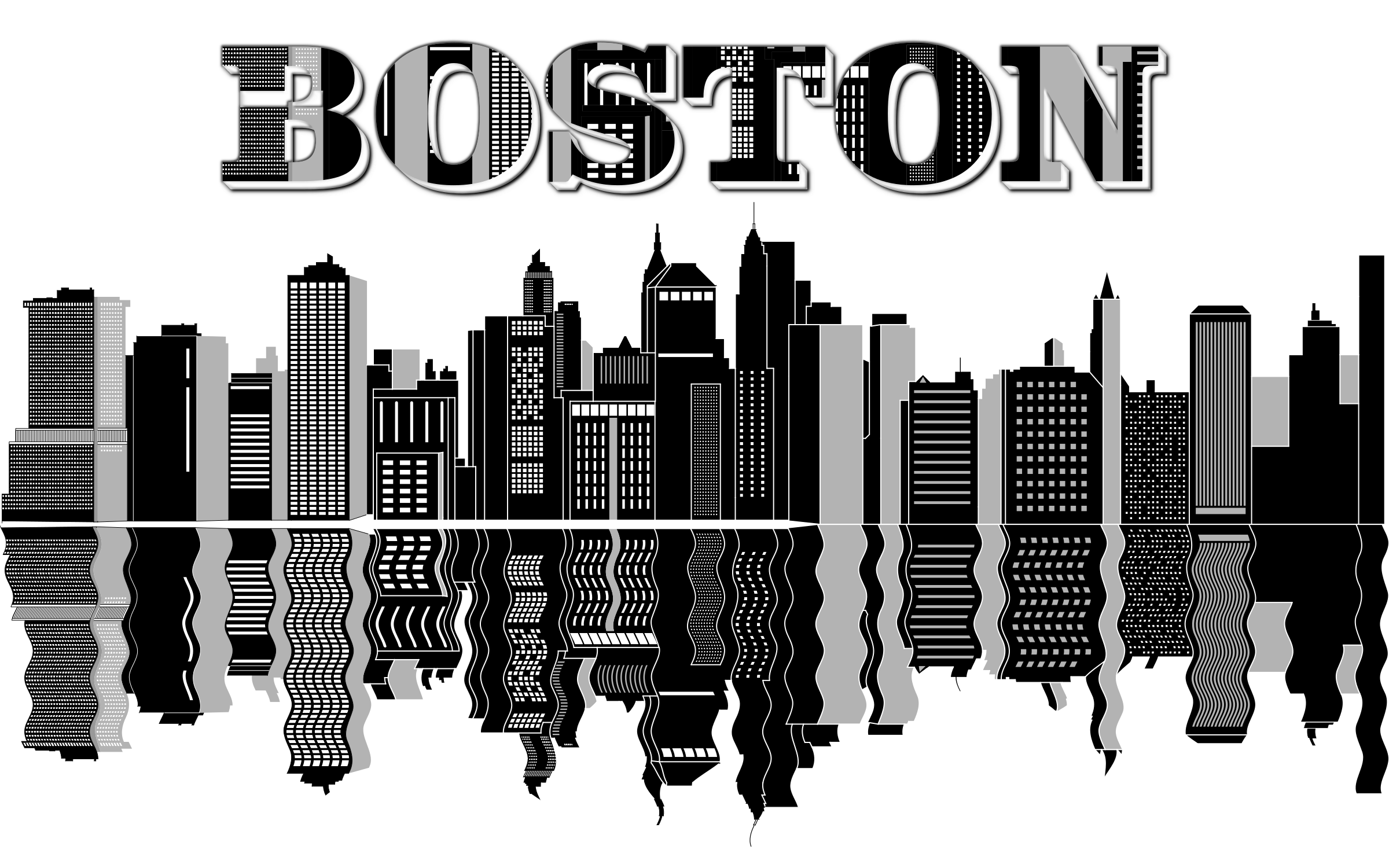 Boston skyline png. Typography icons free and