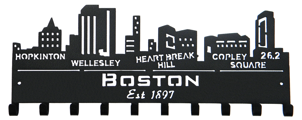 Boston skyline png. Medal holder sporthooks marathon