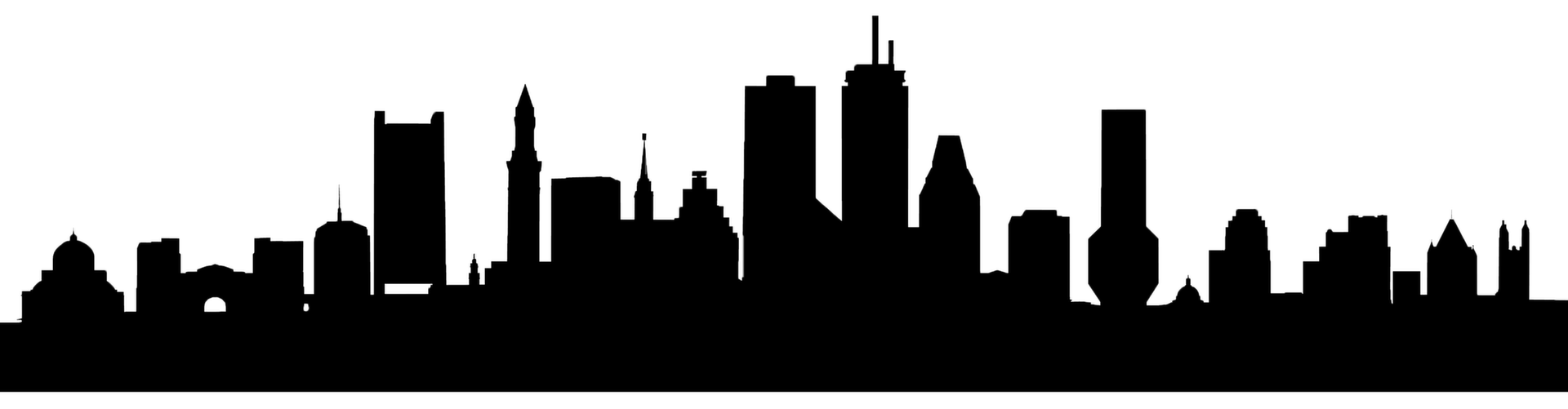 Boston skyline png. Royalty free silhouette transprent