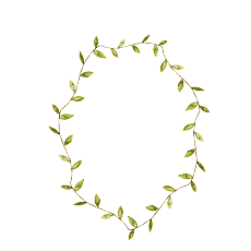 Botanical vector. Hand painted wreath background