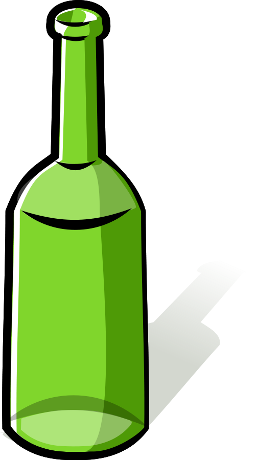 drawing bottles liquor bottle