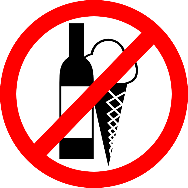 No food png. Sign drinks ice cream